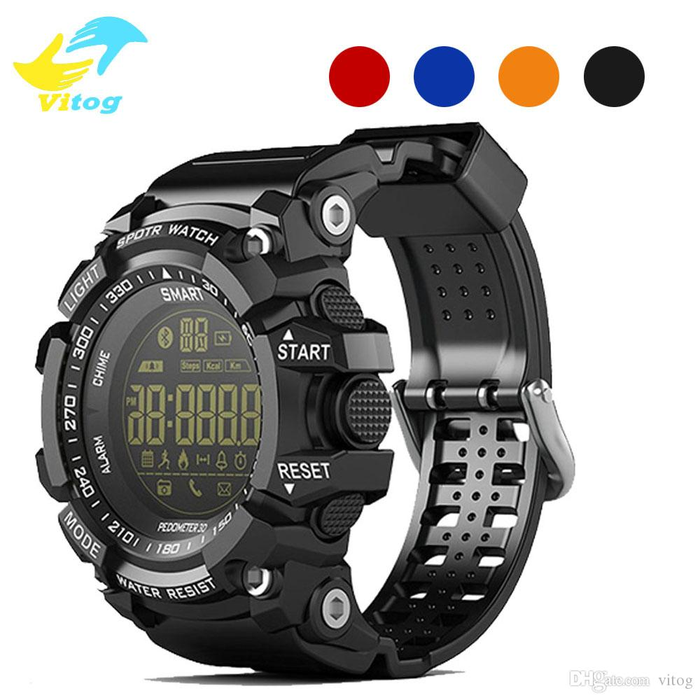 New Sport smart watch buzzer sound alarm sport monitor IP67 waterproof burned calory men watch remote camera watches EX16