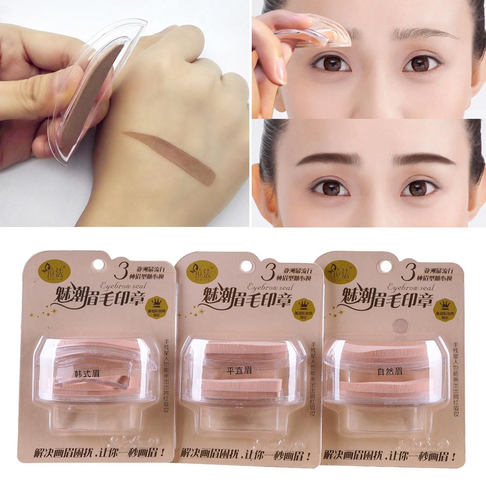 Fashion Eyebrow Template Stamp Sponge Stencils Eye Makeup Natural Brow Type Tattoo Eyebrows Tattooed From Jiami 2212