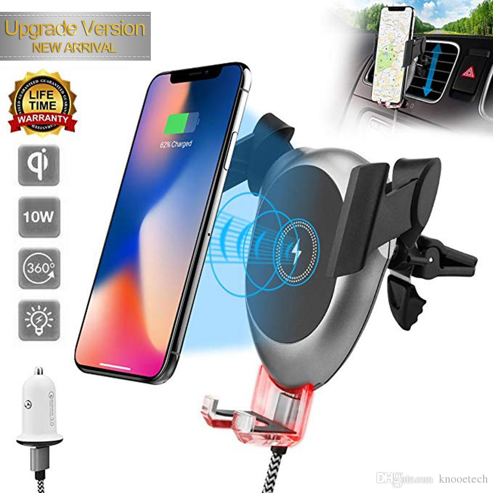 Fast Wireless Car Charger, 10w Cell Phone Gravity Car Charger For ...