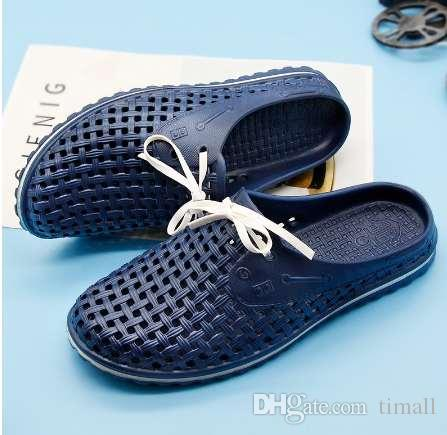 dd8be78704be Gienig 2018 Breathable Lovers Slippers Unisex Beach Shoes Summer New Style  Mesh Slippers Gridding Sandals For Men And Women Red Shoes Moon Boots From  Timall ...