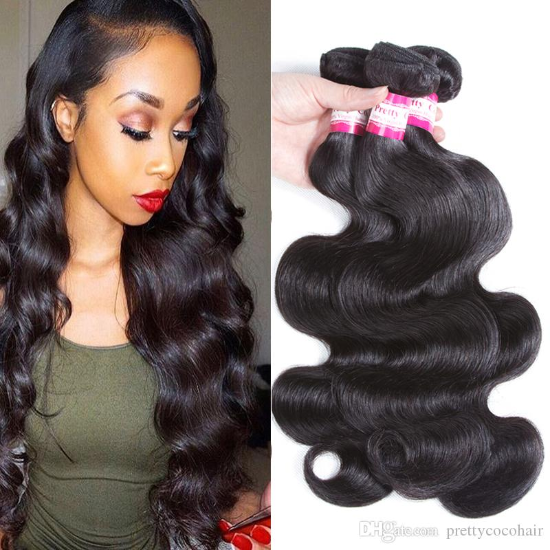 8a unprocessed human hair brazilian body wave sew in soft and thick