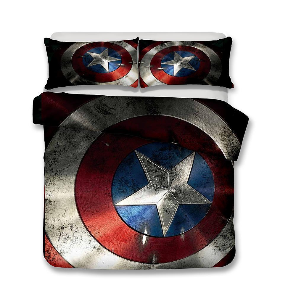 Marvel The Avengers Captain America Shield Printed Bedding