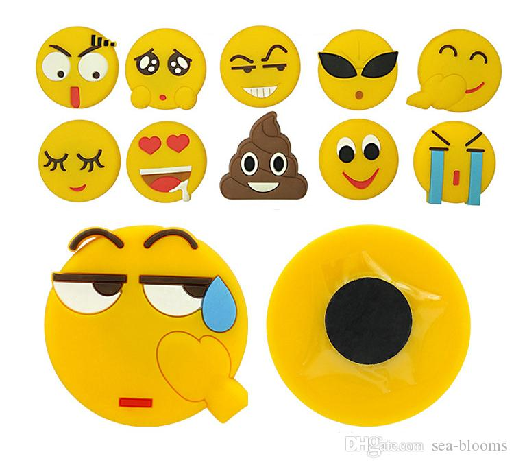 2018 Pvc Cartoon Faces Emoji Wall Stickers Fridge Magnets Smile Face ...