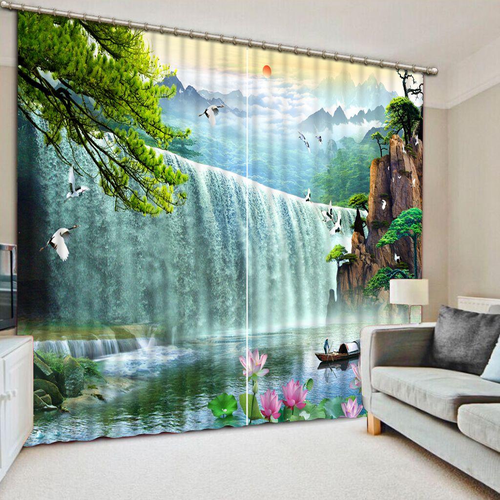 Kreative Die Wohnzimmer Schlafzimmer Vorhänge schöne blume Vorhang Für Fenster Wohnkultur brach wand Blackout Vorhänge
