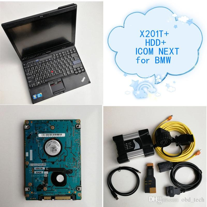 High quality Auto Repair Diagnosis tool Icom next A+B+C for BMW+500GB HDD+Used laptop computer x201t i7 4G/8G best price