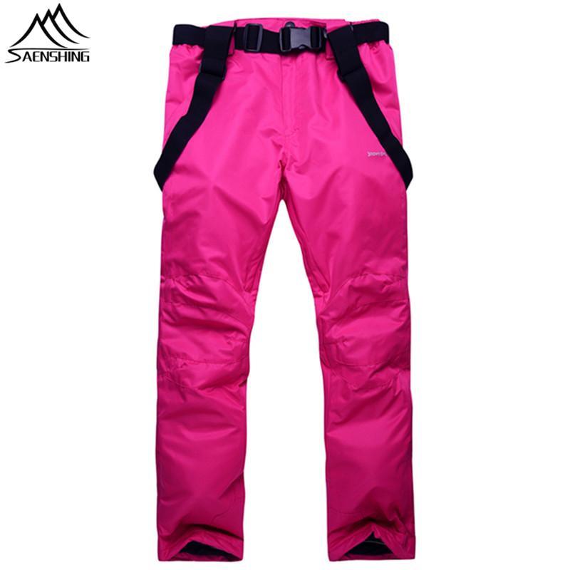 ba37898b57 Wholesale- SAENSHING Winter Ski Trousers Women Men Waterproof Cotton Pad  Warm Snow Snowboard Pants Unisex Outdoor Skiing Ski Pant Clothes Ski Pants  Ski ...