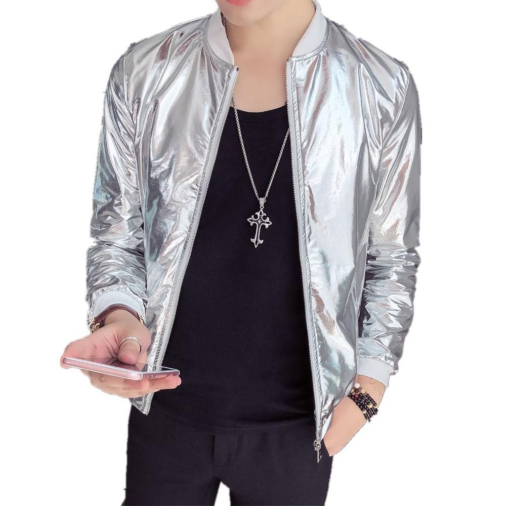 2018 New Autumn Wear Social Guy Men S Slim Jacket Fashion Zipper