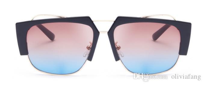 f84e89cab 2018 euros chique unisex óculos de sol uv óculos de proteção lente das  mulheres dos homens de óculos de sol de leopardo preto half frame designer  de óculos ...