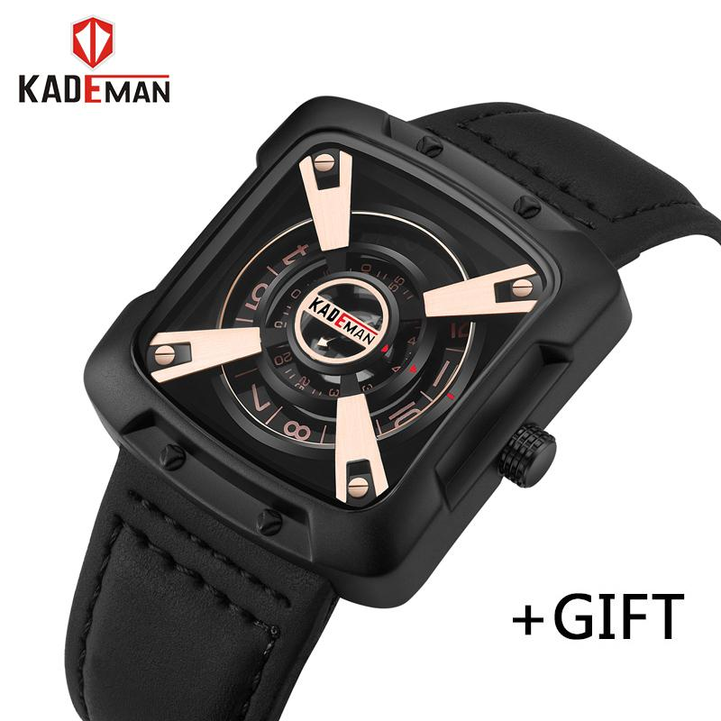 7316801a138 KADEMAN Luxury Men Quartz Watch Fashion Casual Waterproof Sports Watches  Male Leather Date Clock Relogio Masculino Sport Watches Online Shopping  Clothes ...