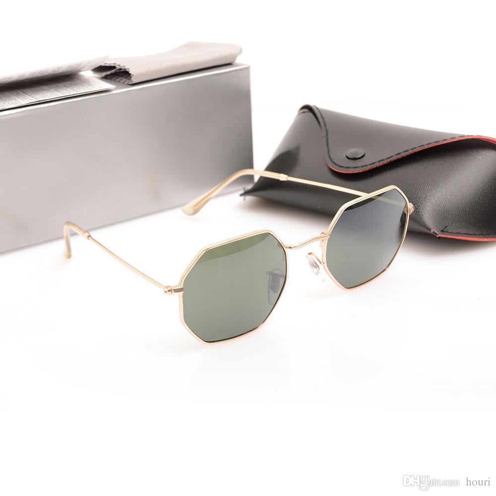 Top-Qualität Kunststoff-Sonnenbrillen Unisex-Brillen 3549 Herrenbrillen Classic Womans Sonnenbrillen Octagonal Brand Sonnenbrillen Mit Schachteln
