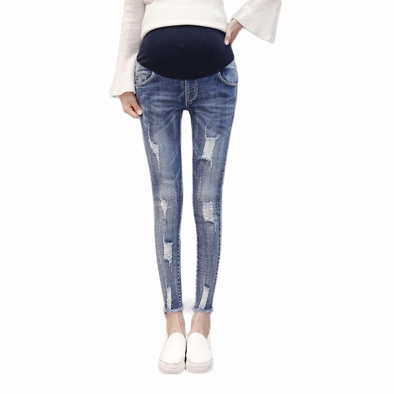 cff153ff521 Pengpious Spring And Autumn Korean Style Pregnant Women Jeans ...