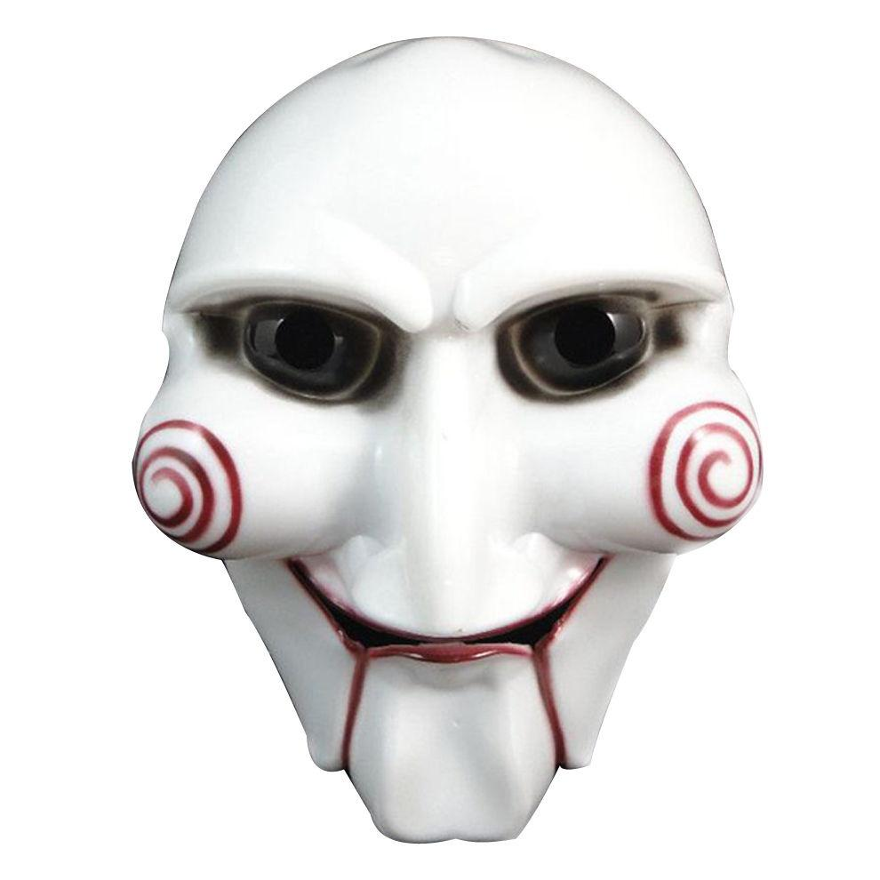 High quality White Halloween Party Cosplay Horror Movie Puppet Mask Costume Prop mascara disfraz