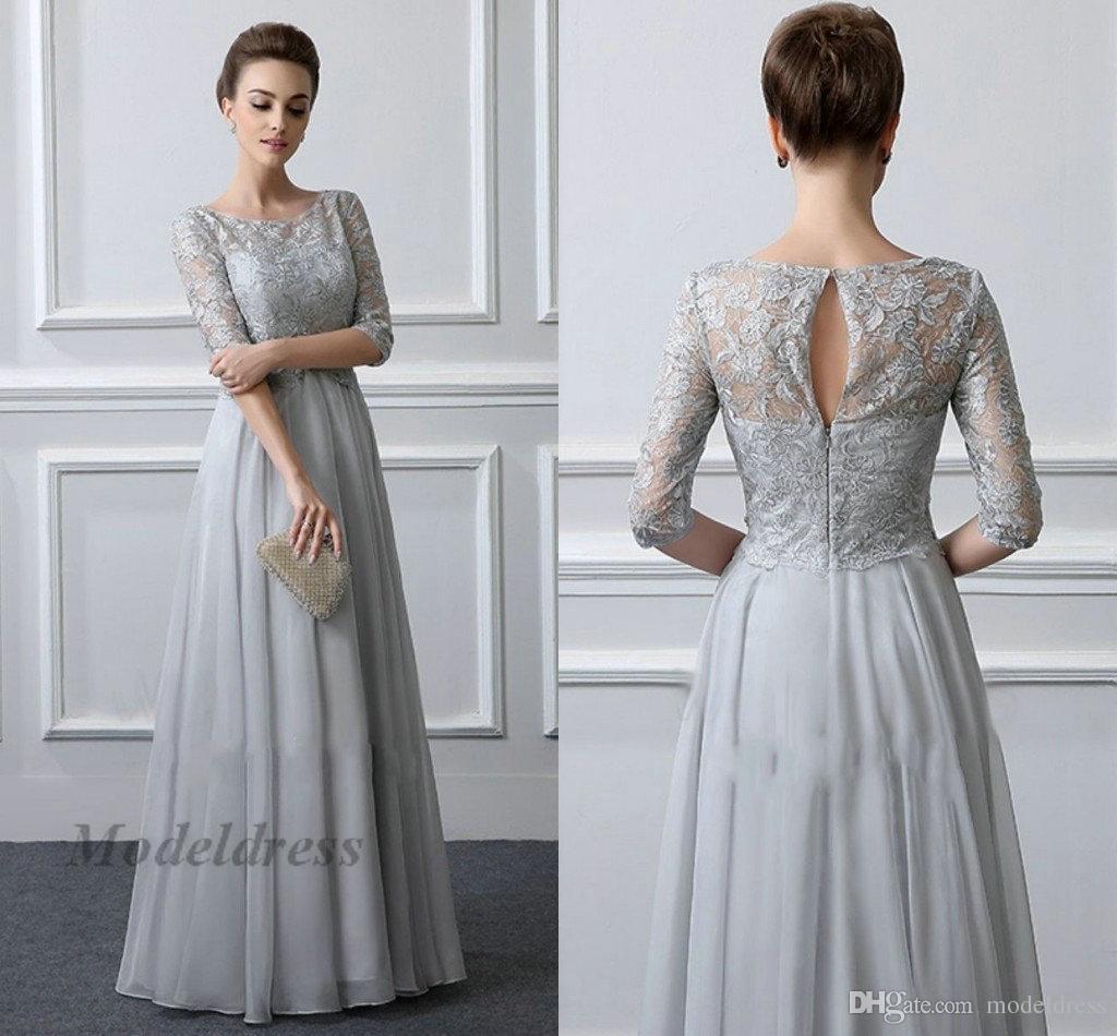 Vestidos elegantes grises