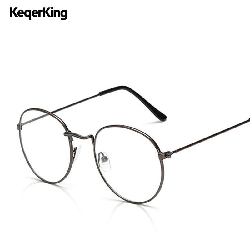 e887d26f3dc Classic Vintage Optical Glasses Frame Men Metal Round Myopia ...