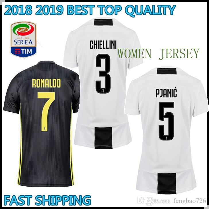 35a51ffc6 2018 2019 WOMEN Juventus Ronaldo DYBALA HIGUAIN MARCHISI Soccer ...