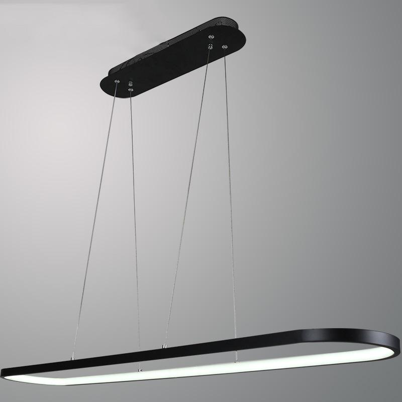 led pendant lights for kitchen island unusual kitchen simple long oval led pendant light for dining room office study table kitchen island bar counter reception black white droplight lighting at home silver
