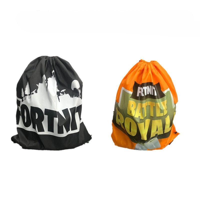 Kids Drawstring Bag Canvas Backpacks Game Fortnite Battle Royale