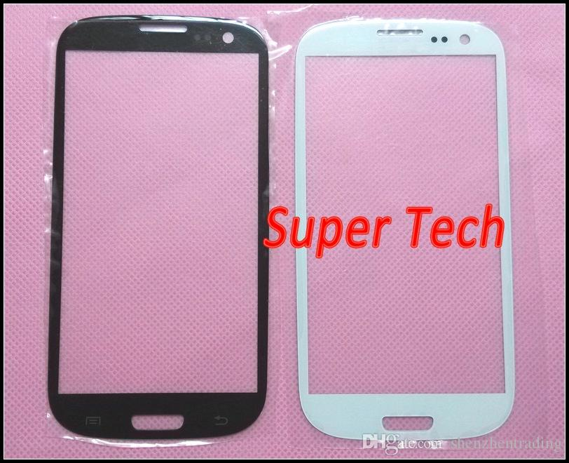 Black and White Front Outer Screen Glass Lens Digitizer Cover Glass for Samsung Galaxy S III S3 i9300 DHL Free