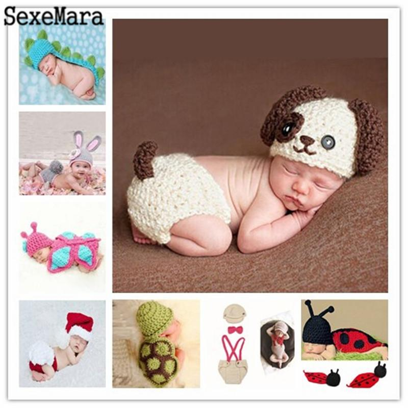 f8569ac6cdd 2019 Hot Sale Photography Props Newborn Baby Knitted Costume Crochet  Newborn Photo Prop Beanie Cap Outfit Handmade From Newyearable