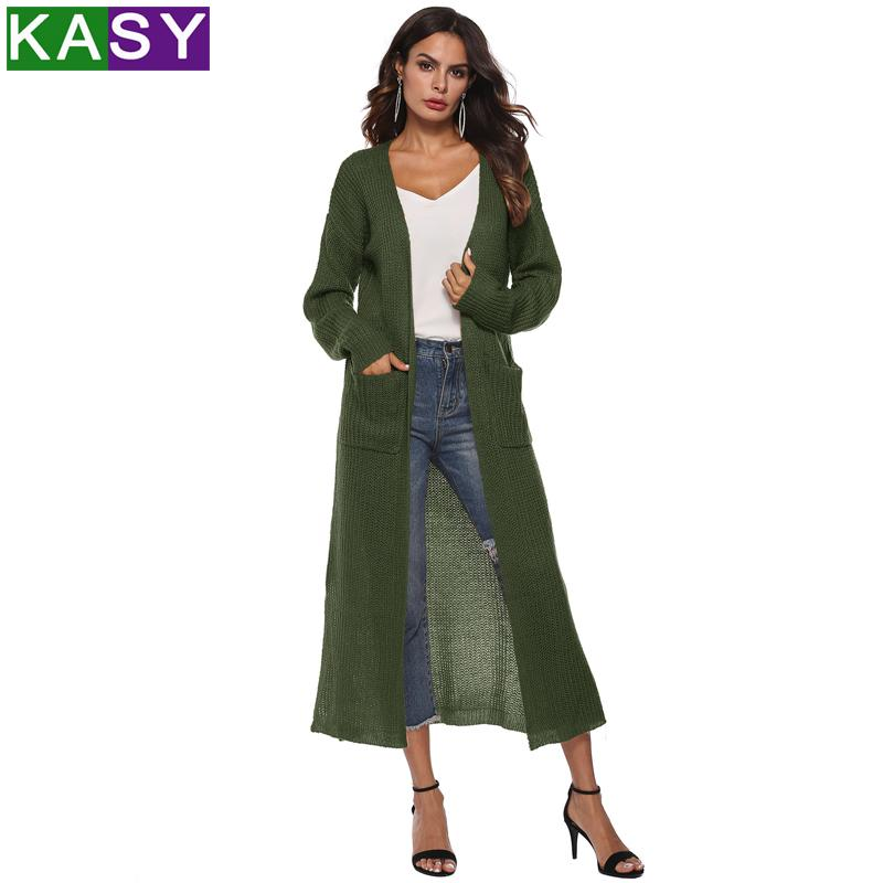 Winter Women Long Sleeve Jacket Sweater Jumper Knitted Cardigan ... cb2971195