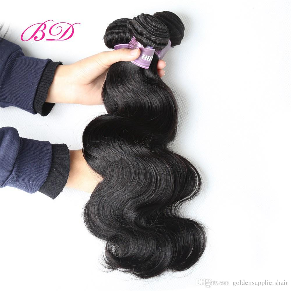 BD Clearance Sale Brazilian Peruvian Malaysian Indian Body Wave Top Lace Closure Human Hair Extensions Brands Packs Three Parts