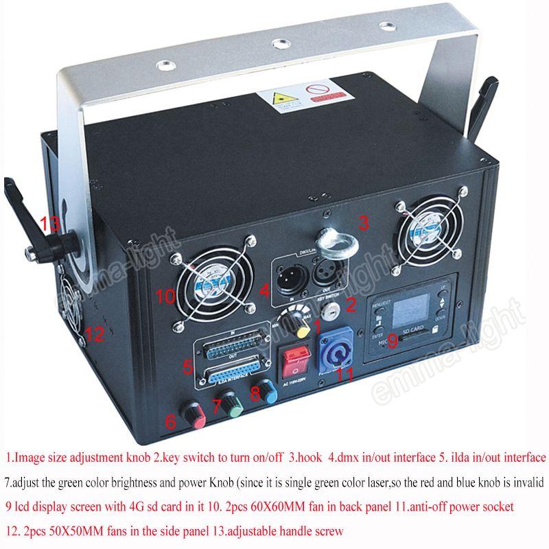 Nouvelle animation verte 1000mw DMX512 ILDA scène américaine DJ stade scène éclairage laser 1W