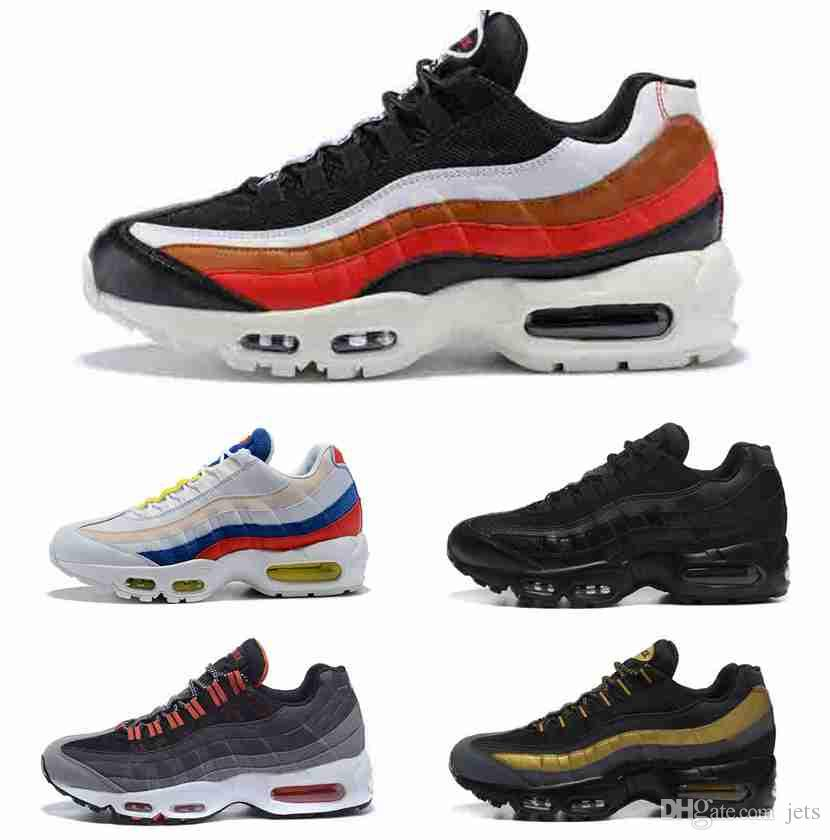 be38b15856 HOT SALE 2018 Ultra Air 20th Anniversary 95 OG Sneakers For Men And Women Running  Shoes Trainers Tennis Zapatos 95 Black White Orange Shoes Sport Shoes Mens  ...