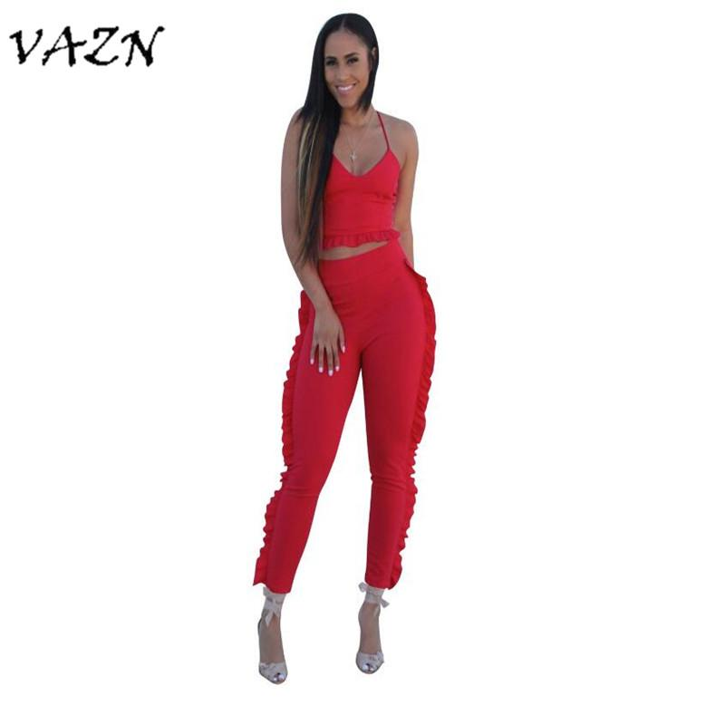 7e17ac1c191 2019 VAZN 2018 Summer High Quality Slim Fashion Women Sexy Jumpsuits Night  Club V Neck Strapless Bodycon Rompers YS111 From Elizabethy