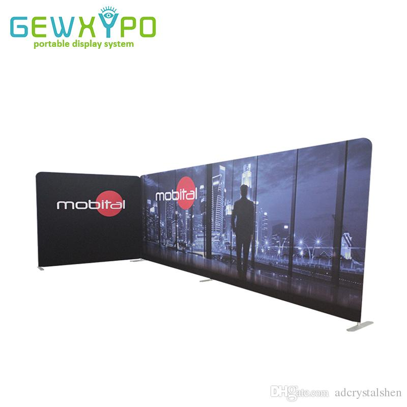 Fabric Exhibition Stand : 2019 20ft*10ft exhibition booth size straight shape portable tension