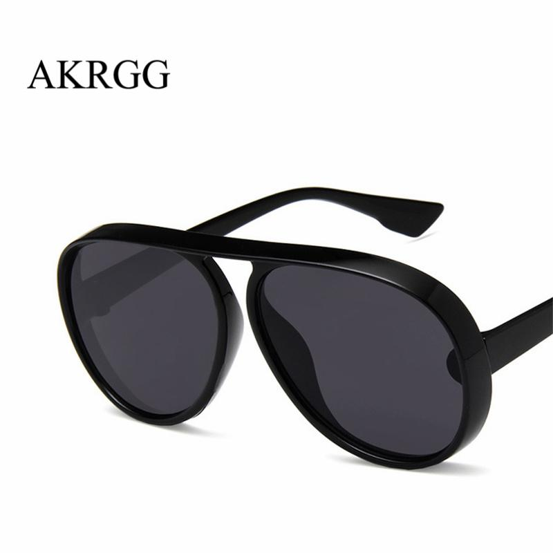 7610ac011dc Oversize Thick Frame Pilot Style Sunglasses For Women Men Clear Lens Sun  Glasses For Ladies Oculos UV400 Sunglasses Online Sunglasses Brands From  Runyutian