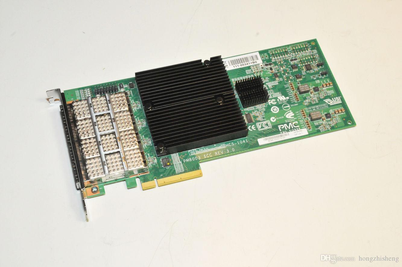 ЧВК Сьерра-PM8003 ГТК РЭВ ЖКУ-1041 3.0 111-00341+В0 X2065A Р6 шины медные шины PCIe SAS на 4 порта QSFP