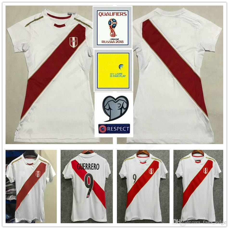 2018 2018 World Cup Women Peru Soccer Jersey 9 Guerrero 10 Farfan Christian  8 Cueva Raul Ruidiaz 20 Flores Custom Woman Men Football Shirt From ... d0068a5859