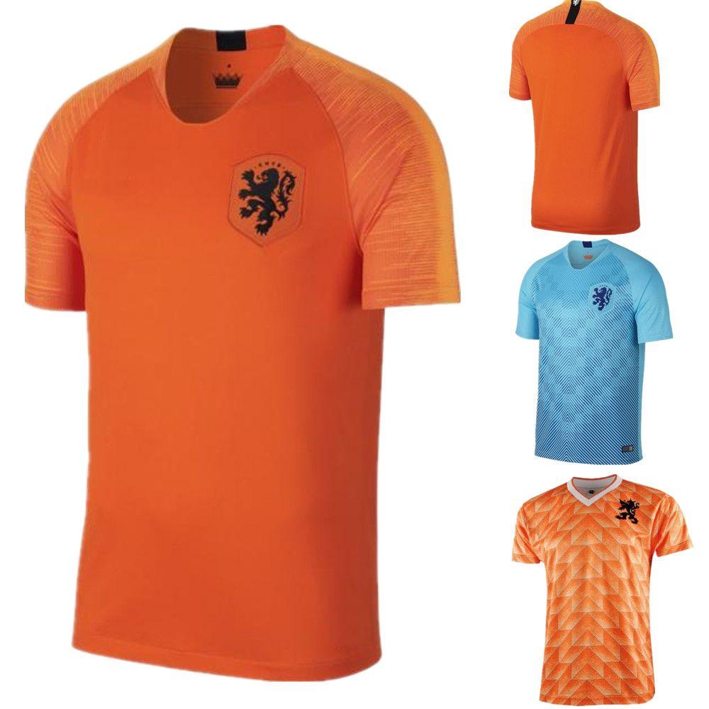 2019 Perfect 2018 Netherlands Soccer Jersey Home Away Orange Holland ROBBEN  SNEIJDER V.Persie Dutch Top Football Shirts From Welchli 2996f6bad