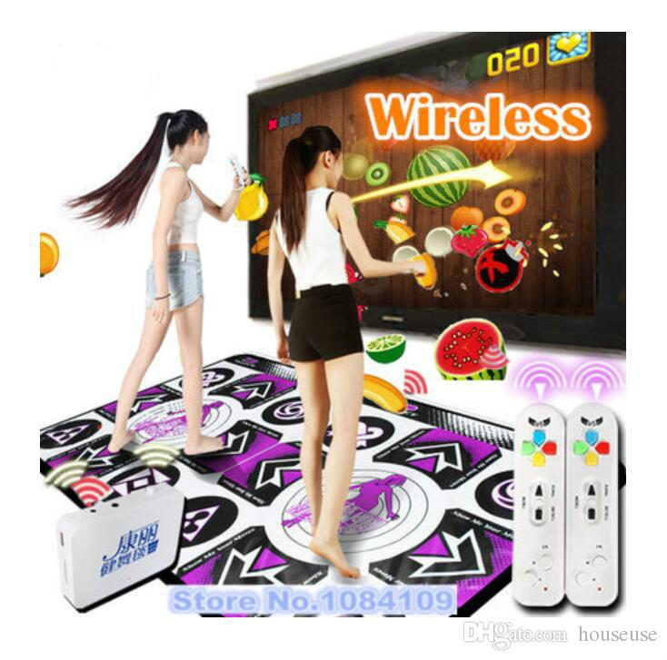 2019 HOT New KL English Menu 11 Mm Thickness Double Dance Pad Non Slip Pad Yoga  Mat Two Remote Controller Sense Game For PC   TV From Houseuse 204d8445a