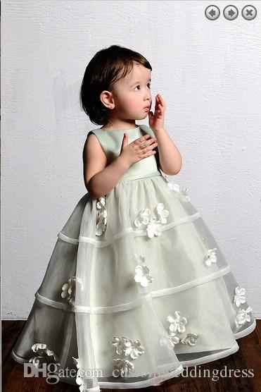 2018 new style organza Girls' Formal gowns Lovely princess dress weddings Girl's Pageant Gowns Flower Girl Dresses