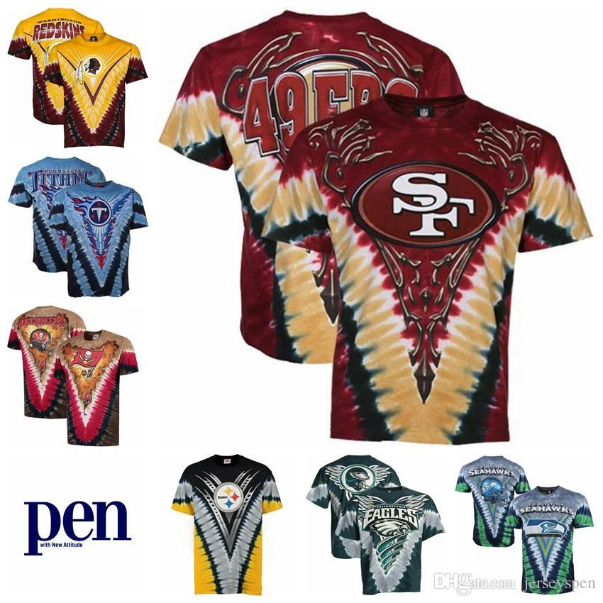 2019 San Francisco 49ers Philadelphia Eagles Washington Redskins Tampa Bay  Buccaneers Pittsburgh Steelers Seattle Seahawks Tie Dye PremiumT Shirt From  ... 72a1805de