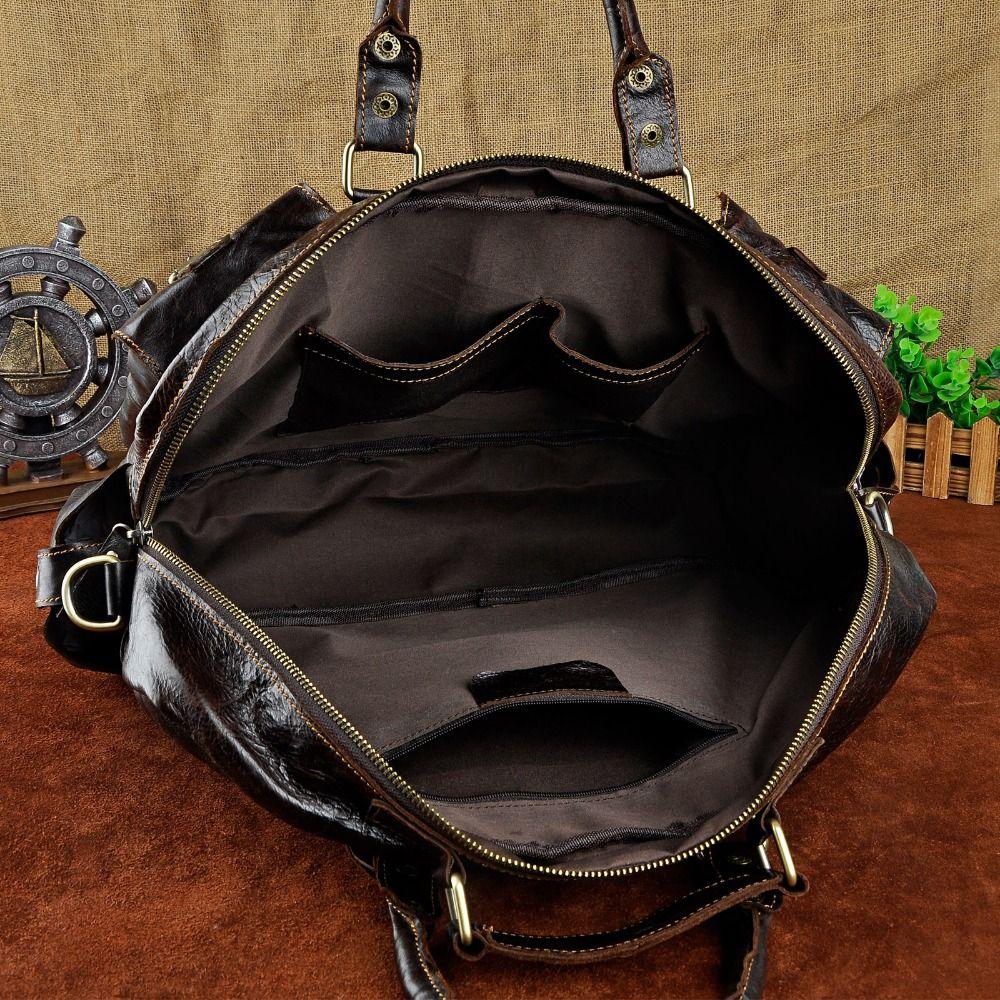 Leather Heavy Duty Mens Best Professional Travel Briefcase Business Portfolio Organizer Laptop Tote Shoulder Messenger Bag 3061c