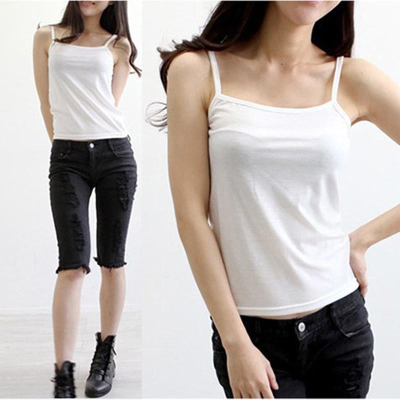 Women Camis Tops Summer New Sleeveless Beach Style Tanks Tops Free Size  Ladies Tees Slim Vest Camisole White Online with  19.46 Piece on Modeng05 s  Store ... 61b4cbfe3cc1