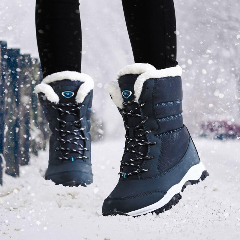 2019 Women Boots Non Slip Waterproof Winter Ankle Snow Boots Women