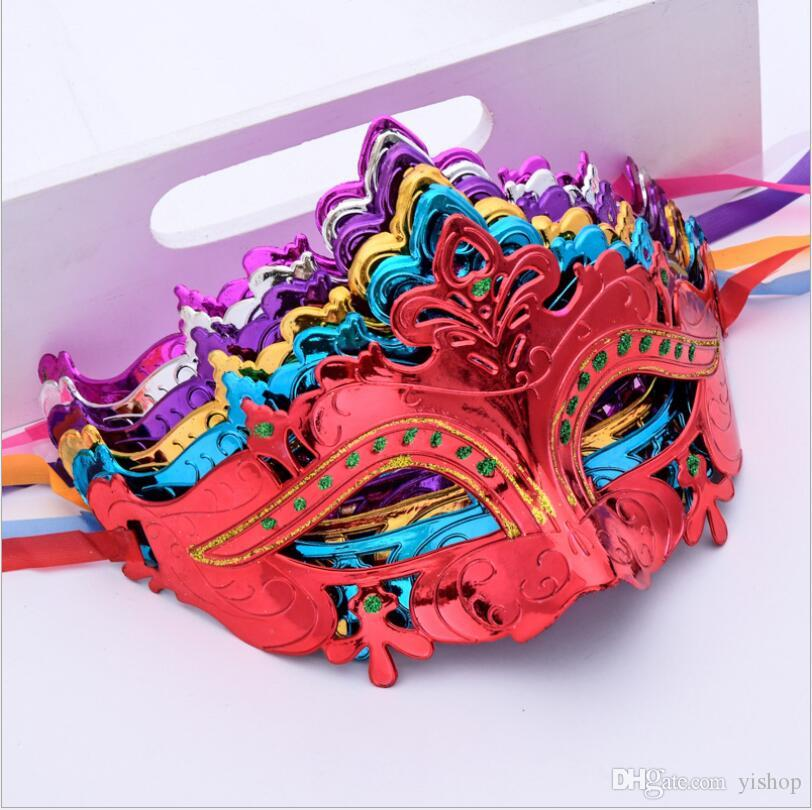 Sexy Promotion Selling Party Mask With Gold Glitter Mask Venetian Unisex Sparkle Masquerade Mask Party Mardi Gras Masks Masquerade Halloween