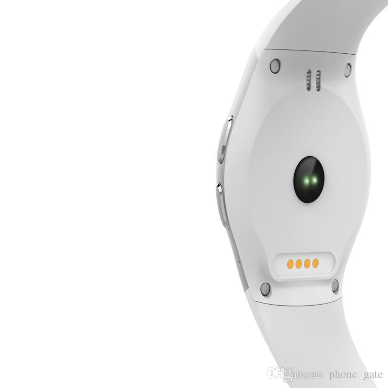 KW18 Smart Watch SMS Notificación Música para mujer Reloj para hombres 2G Pantalla táctil redonda Bluetooth 340mAh Cámara para batería Mini SIM Reloj de pulsera