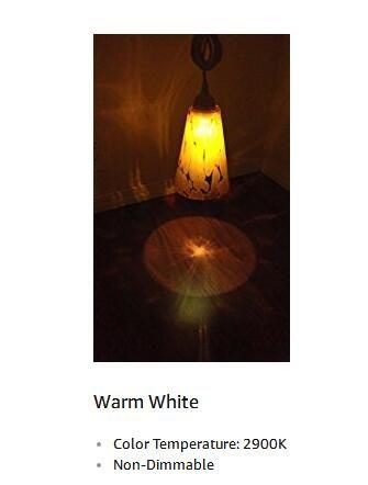 Мини светодиодный G7 Power Boulder LED 0.5 Ватт 5 Вт 15 люменов C7 Ночная лампочка, 2900K мягкий белый свет, E12 Base 50шт упак.