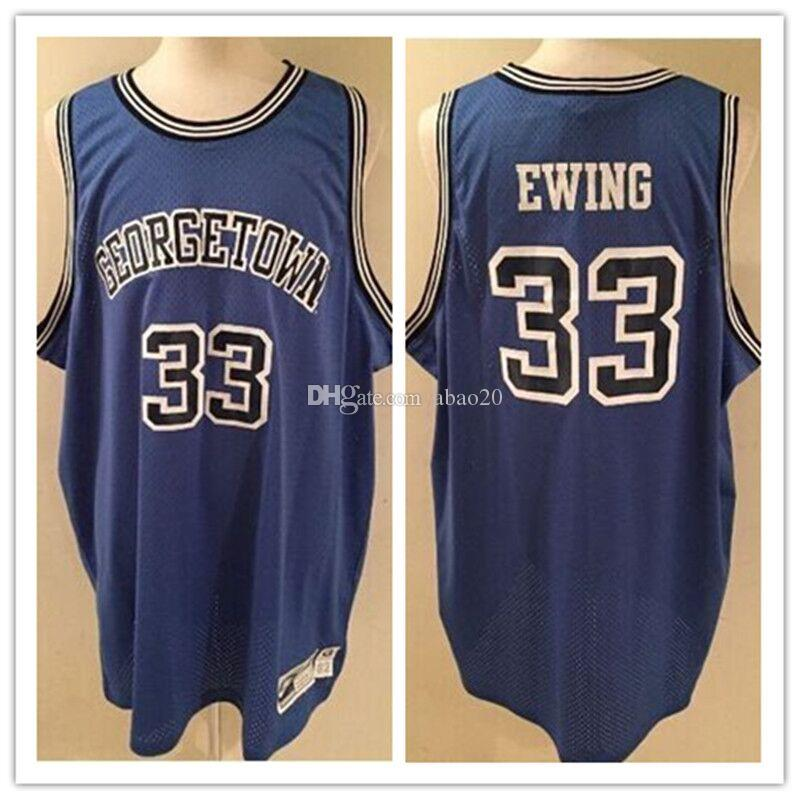 online store 7c210 f5537 #33 Patrick Ewing Georgetown Hoyas College Basketball Jersey Embroidery  Stitches Customize any Number and name jerseys