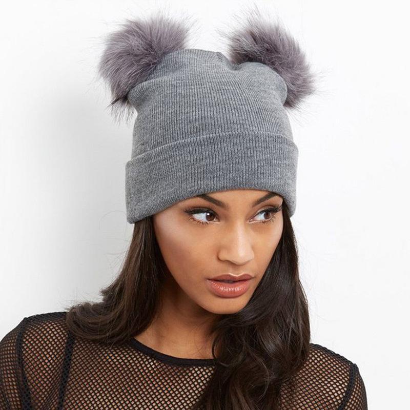 ... Hats Knit Beanie Fur Pom Pom Hat Women Girls Winter Skullies Adult Kids  Cap Dropshipping Slouchy Beanie Crochet Pattern Baby Boy Hats From  Nectarine99 fc5125696