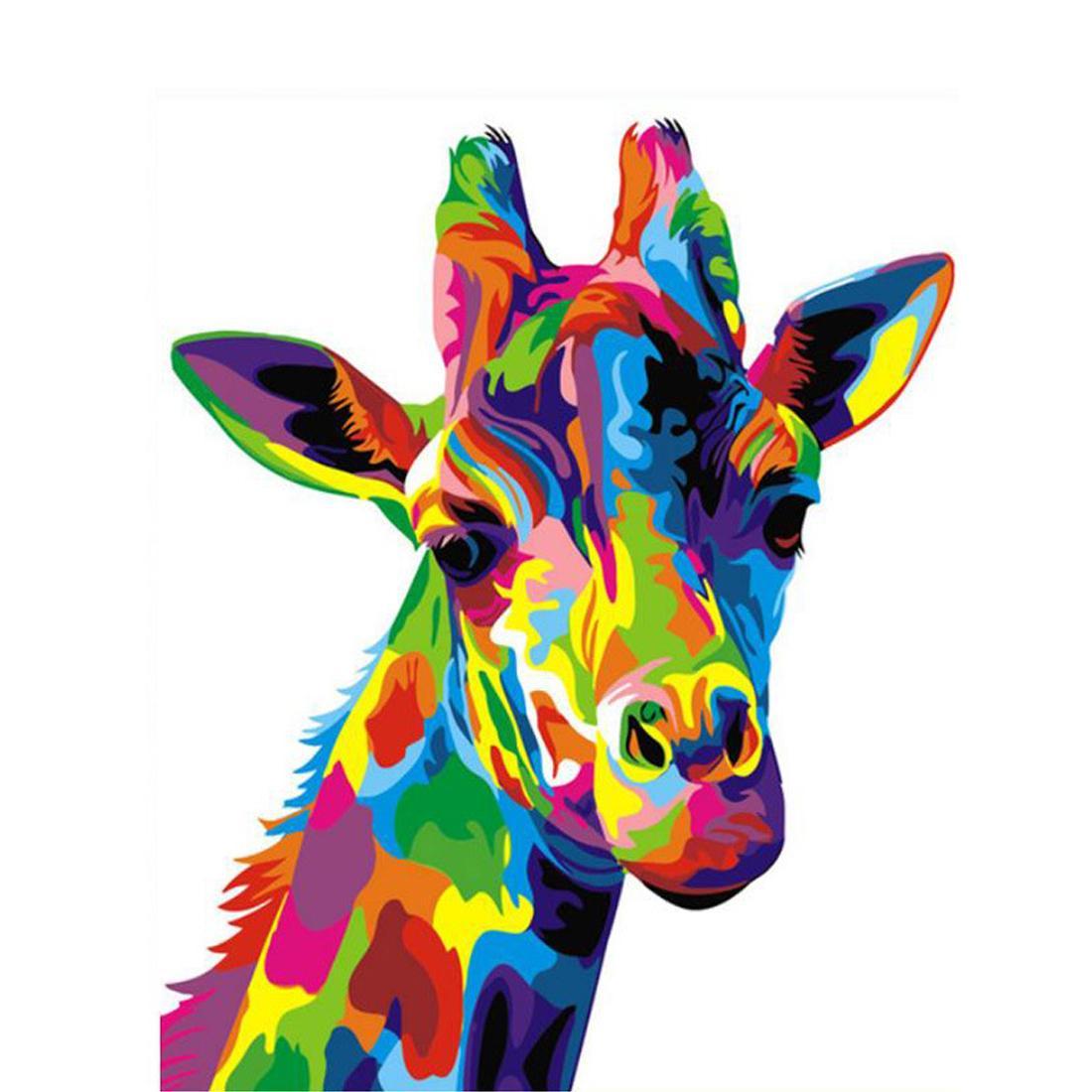 Satın Al Diy Zürafa Hayvanlar Akrilik Boya Ile Boyama Fırçalar