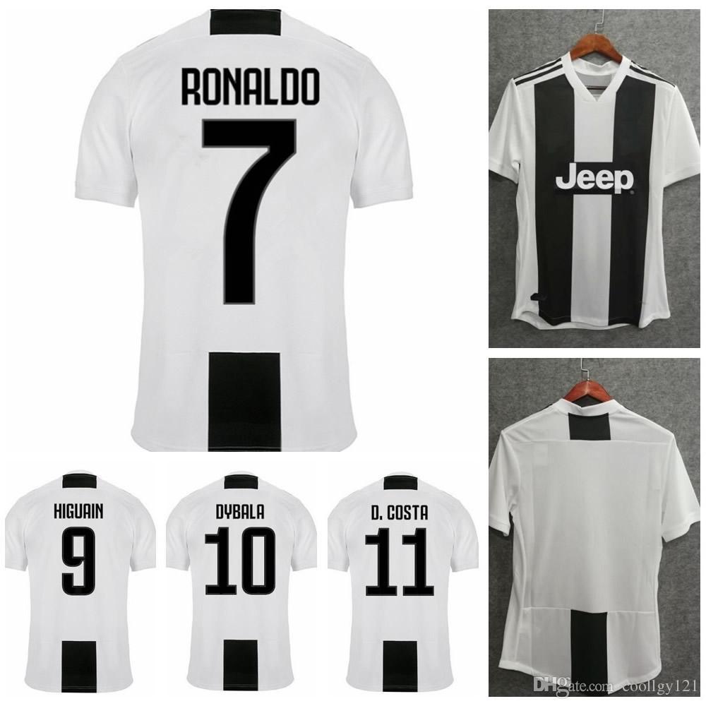 31a0859d43756 2019 RONALDO Juventus Home Soccer Jerseys 18 19 Mens  7 RONALDO  10 ...