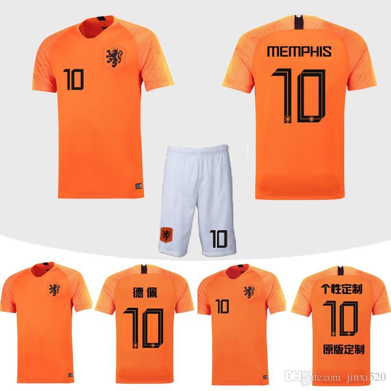 Compre Camiseta De Fútbol De Holanda Holanda 2018 Naranja Azul Visitante  SNEIJDER V.PERSIE MEMPHIS Robben Camiseta De Uniforme De Fútbol 18 19  Conjuntos De ... 4ca234c01465e