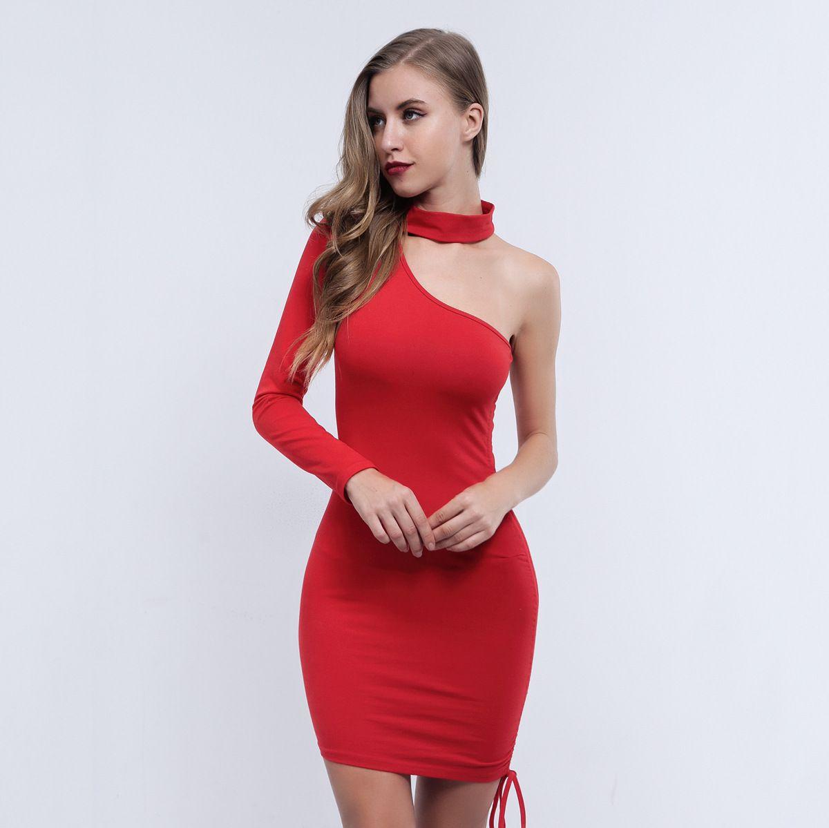 Acheter Plissée Femmes Vêtements À Manches Une 2018 Épaule Longues 0OvmN8nw