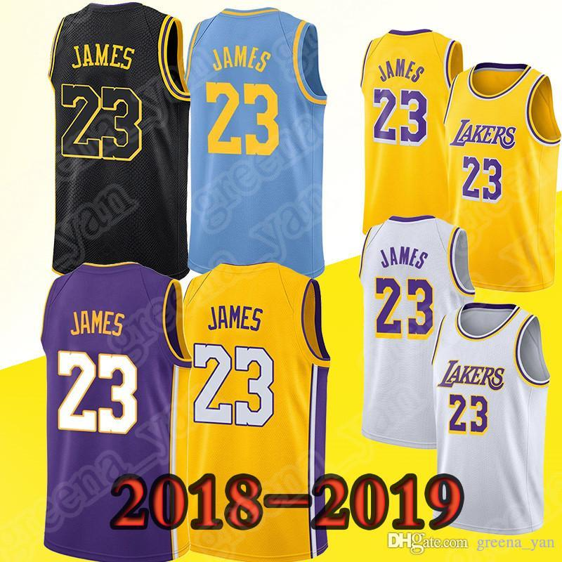 fed4a1487ca8 ... norway los angeles lakers jerseys 23 lebron james 2019 youth kids men  top quality embroidery logos