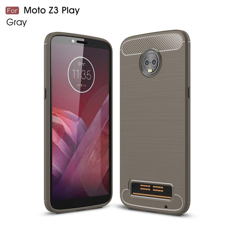 2018 New CellPhone Cases For Motorola Z3 Play Carbon Fiber heavy duty case for MOTO Z3 Play backcover